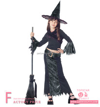 Cheap child's carnival fancy dress witches witch costume for kids