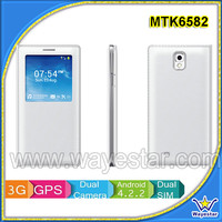 5.7 inch HD 1280x720 MTK6582 Quad Core 3G Android 4.4 Smart Phone 1G+8G