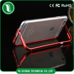 china supplier Premium Aluminum Metal Bumper Frame Case for iPhone 6 TPU Aluminum Metal Bumper Frame Case with stand
