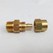 Brass compression fitting quick connect male thread tube adapter