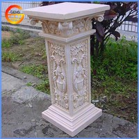 Fiberstone flower pot stand decorative pillar