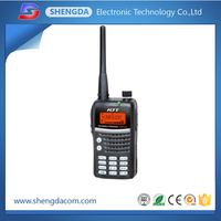 High tech VHF UHF dual band handheld walkie talkie/two way handy radio with long range 20km