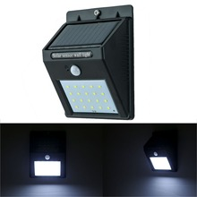 Brightest Solar Motion Sensor Led Wall Light and Wireless Waterproof PIR Led Wall Lamp