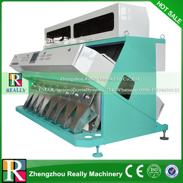 Low Price Used CCD grain color sorter/beans rice sorting machine with Led Light