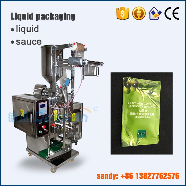 Automatic cream/shampoo/body lotion sachet packaging machine