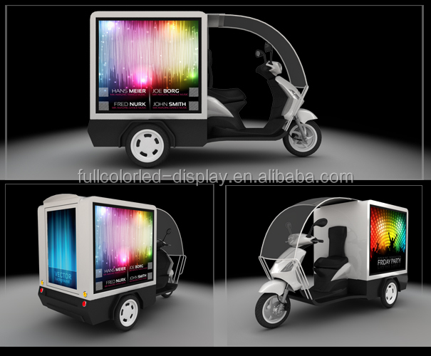 Mobile Outdoor Advertising Truck / Vehicles / Taxi LED Display led mobile advertising trucks for sale