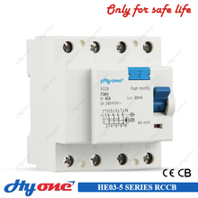 RCCB air circuit breaker RCD 2p earth leakage circuit breaker F360 residual current device