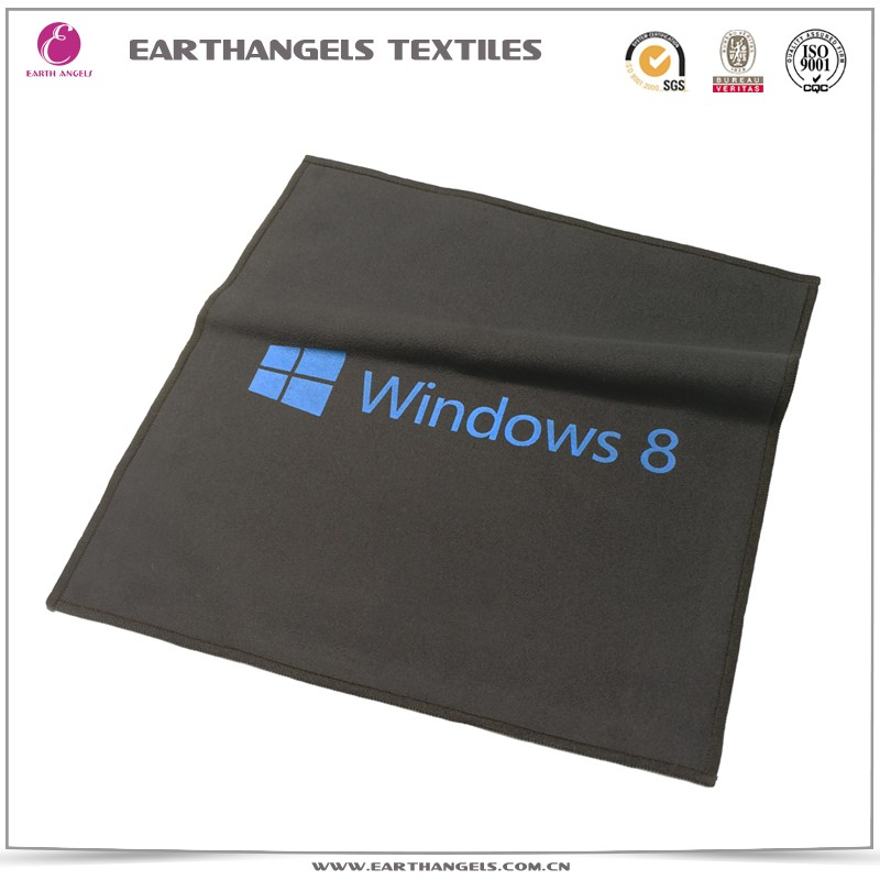 silk logo printed microfiber screen cleaning cloth