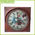 classic fancy style with metal ring antique wall clock