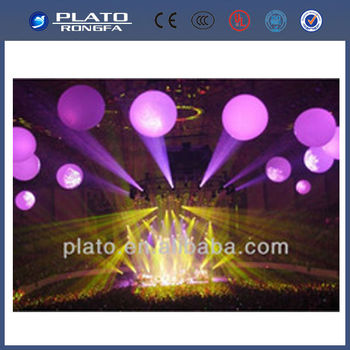 lightful and beautiful ourdoor decorative lighted balla/ big light led stand ball
