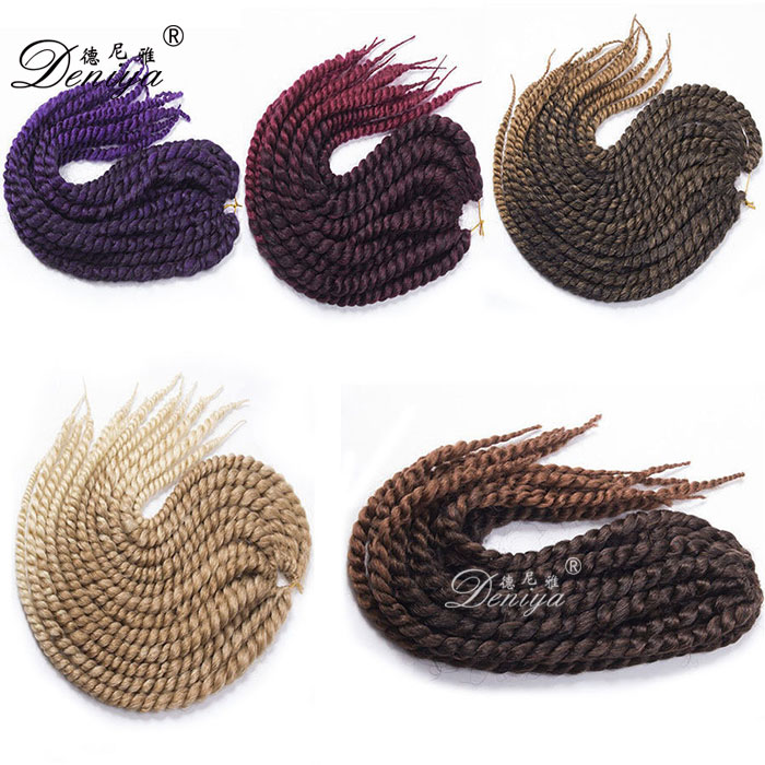 Synthetic Hair Extension Afro Hair Braid Ombre Hairpiece