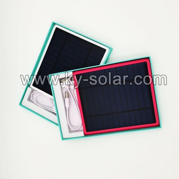 2016 lastest 5v Li-Pol batteries10000mah solar power bank charger
