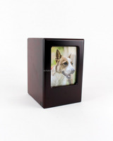 Picture Frame Memory Pet Urn in Black Cherry by Midlee