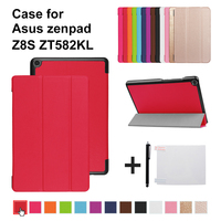 "Funda stand cover case for 2017 New Asus Zenpad Z8S ZT582 ZT582KL 8"" 8.0 tablet Flip Case Cover"