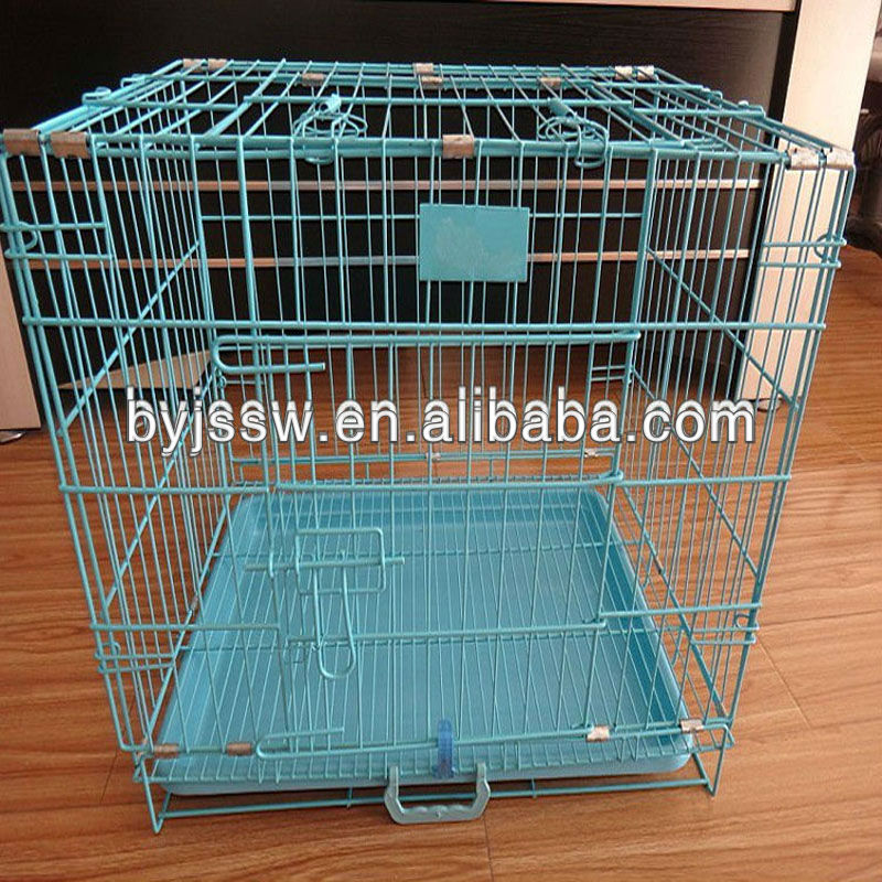 Metal folding dog cage from manufacture