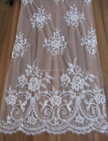 beaded embroidery tulle lace fabric jacquard bridal lace for vestidos de novia wholesale in Guangzhou China