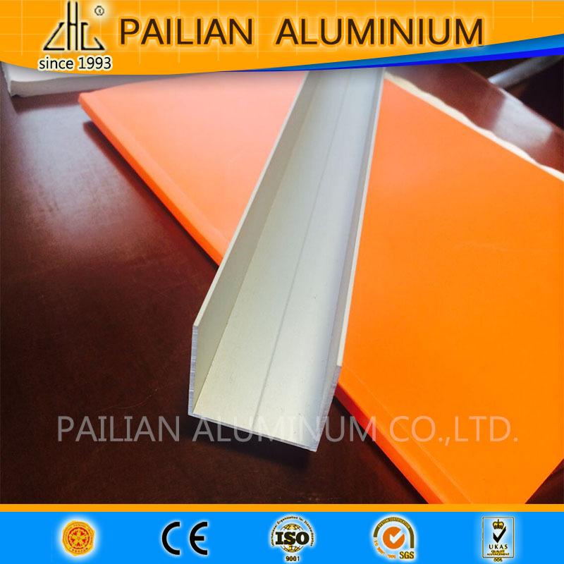 Double U Channel : Hot double angle aluminum extrusion singapore