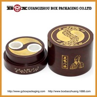 Antique Decorative Round Wooden Box Gift Hand Made in Guangzhou