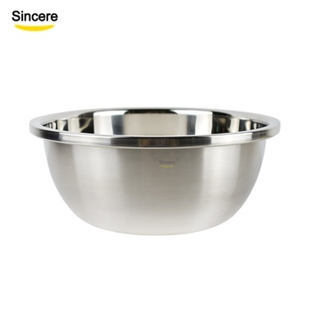 Kitchenware 304 stainless steel mixing bowl big capacity metal soup bowl wash basin
