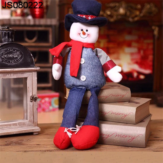 Fabric Snowman or Santa claus doll, for Christmas gift, 2016 New Christmas decoration