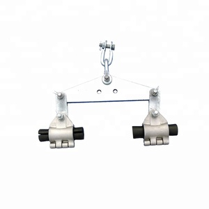 Adss cable suspension clamp set