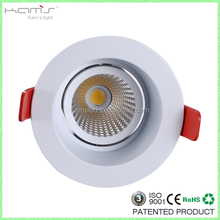 Anti-glare indoor recessed 8W-30W ceiling cob round LED downlight with DALI dimmable driver