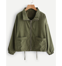 Topshop Zip Up Drawstring Jacket