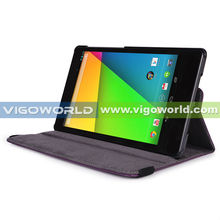 360 degree rotated leather case for Google nexus 7 2nd gen