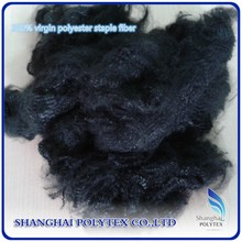 3D/6D/15D black recycled polyester staple fiber for non woven with low price