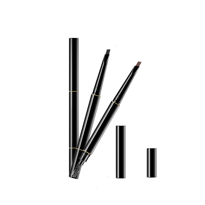 Hot Professional Eyebrow Pencil Eyebrow Enhancers Makeup Skinny Brow Liner with brush double ended eye comestic tool