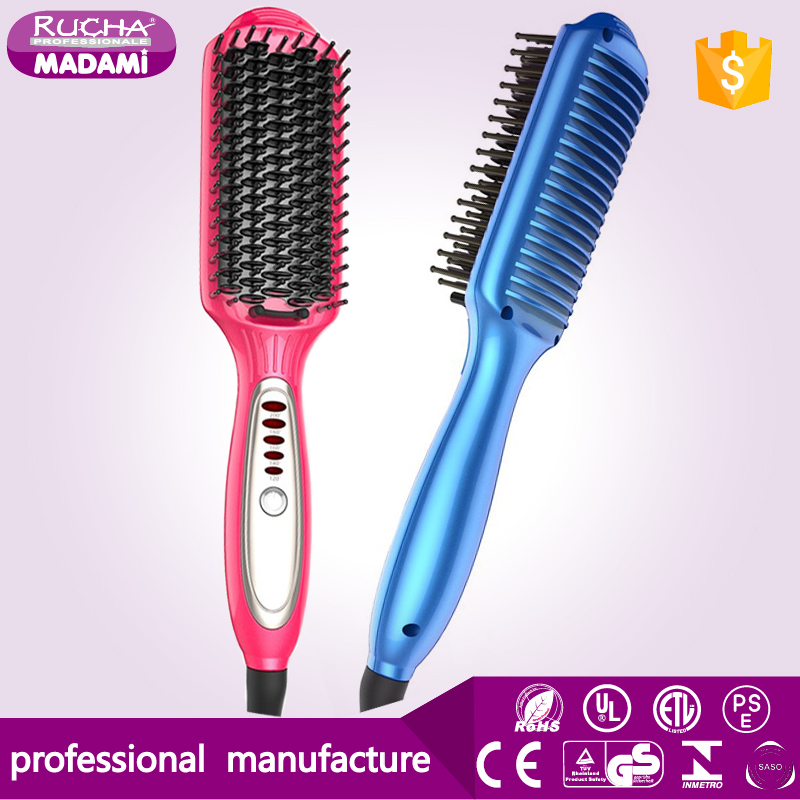 Hottest Multi-Function Hair Comb LCD Electric Hair Straightening/Curling Irons Fast Hair Straightener Brush