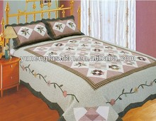 Handmade Cotton Applique flower quilt sets bedspreads