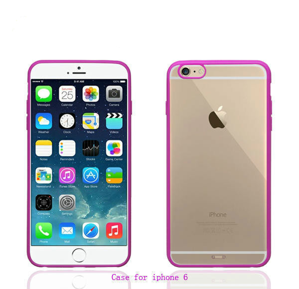 Hybrid case for iphone 6 plus,Clear pc+tpu case for i phone 6 PC Clear case with multi color