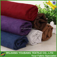 2017 High quality newly soft 100% microfiber polyester suede fabric