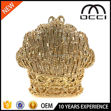New designer fancy hard shell hollow crystal evening clutch OC3143