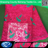2015 new designs in stock cheap thick metallic lace fabric