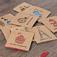 2016 hot sale new style laser cut kraft invitation card for wedding