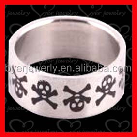 wholesale stainless steel skull wedding bands ring