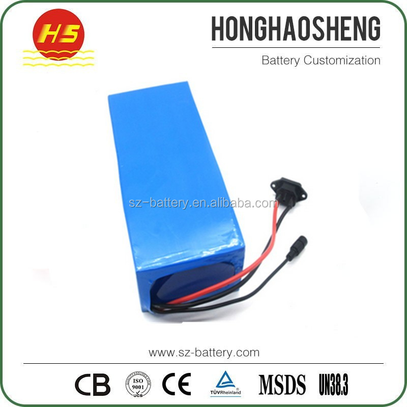 24v 36v 48v electric bike battery high power 18650 15ah li ion battery pack