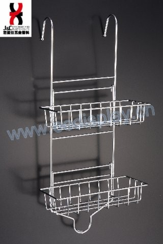 Wholesale 2 Tier Hanging Bathroom Chrome Shower Caddy