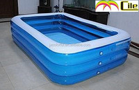 CILE Hot Sale Clear Blue Inflatable Baby Swimming Pool