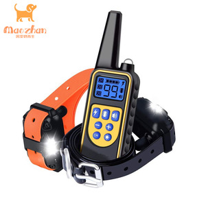Amazon Best Remote Dog Trainer Waterproof and Rechargeable Electric Static Shock Vibration Beep Dog Training Collar