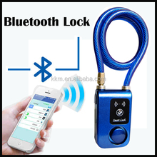 Self Design Practical Smart Remote Control Bluetooth Lock Alarm Bike Lock For Wholesale