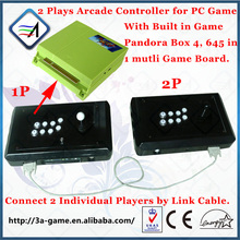 Kit Arcade Controller 2 PlayersPandora Box 4 Jamma 645 Games to TV USB to PC Joystick Arcade Game Controller