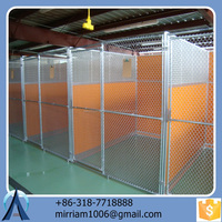 2015 hot sale easy assemble high quality cheap wrought iron galvanized convenient safe outdoor dog cages/dog kennels