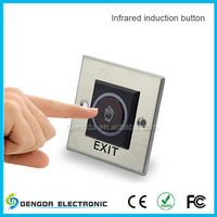 Door access control No touch infrared push to exit button