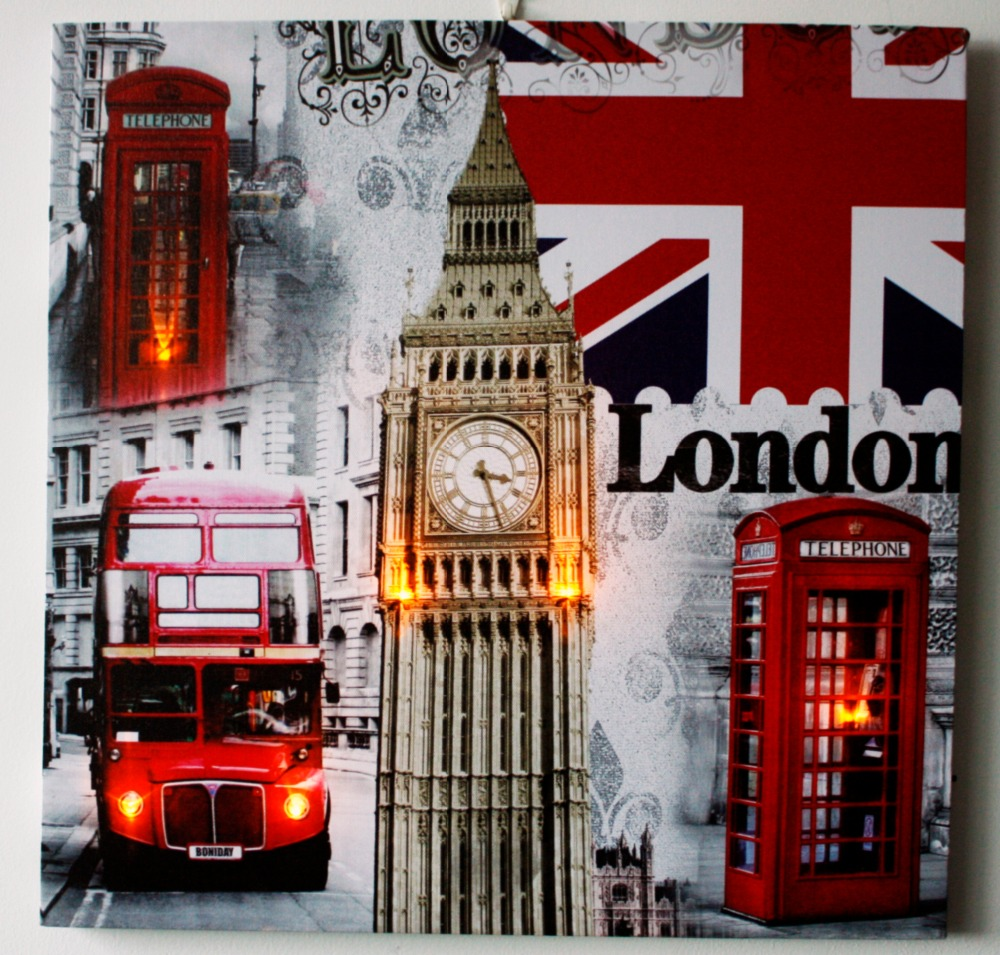 LONDON Light up frames photo wall art,LED framed art painting home wall decoration