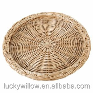 cheap round wicker tray for bread