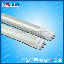 LED fluorescent tube light t8 10W 18W 24W 27W 2ft 4ft 5ft 600mm 1200mm 1500mm Ra80 130lm/w 140lm /w rotatable end-cap