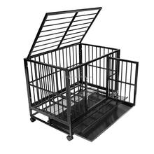 "36"" Professional Superior Quality Heavy Duty Dog Pet Cat Crate Cage Kennel On Wheels"